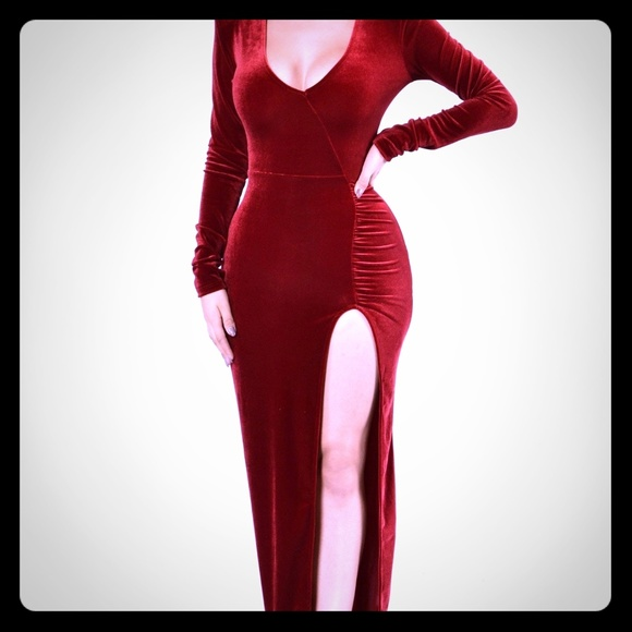 410dc7d60eae6a Fashion Nova Dresses | Red Velvet Sexy Dress | Poshmark